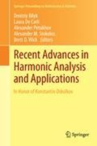 Recent Advances in Harmonic Analysis and Applications