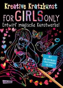 Kreative Kratzkunst: For Girls Only: Set mit 10 Kratzbildern, An