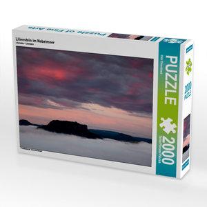 CALVENDO Puzzle Lilienstein im Nebelmeer 2000 Teile Lege-Größe 9