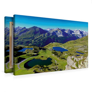 Premium Textil-Leinwand 75 cm x 50 cm quer Seenparadies