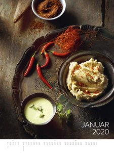 Food Art Gallery 2020 - Rezeptkalender (48 x 64) - Küchenkalende