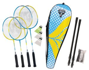 Talbot-Torro 449407 - Badminton-Set Family, 2 Juniorschläger, 2