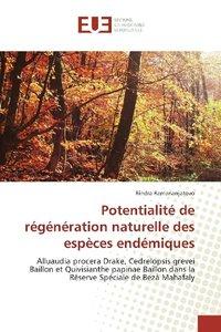 Potentialité de régénération naturelle des espèces endémiques