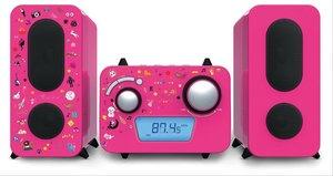Stereoanlage CD/Radio pink inkl.Aufklebe