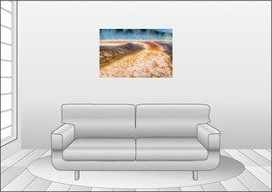 Premium Textil-Leinwand 90 cm x 60 cm quer Ein Motiv aus dem Kal