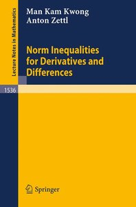 Norm Inequalities for Derivatives and Differences
