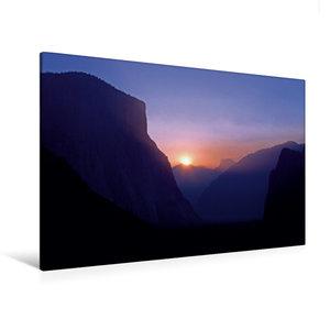 Premium Textil-Leinwand 120 cm x 80 cm quer Sonnenaufgang im Yos