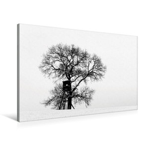 Premium Textil-Leinwand 90 cm x 60 cm quer Winterfarben
