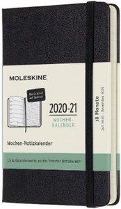 Moleskine 18 Monate Wochen Notizkalender Deutsch 2020/2021 Pocke