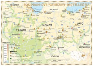 Bourbon-Rye-Whiskey Distilleries in Ohio-Indiana-Illinois - Tast