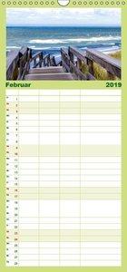 Sylt mein Inselblick - Familienplaner hoch (Wandkalender 2019 ,