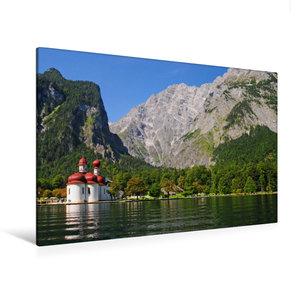 Premium Textil-Leinwand 120 cm x 80 cm quer Königssee