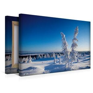 Premium Textil-Leinwand 45 cm x 30 cm quer Kalter Schnee in Kare