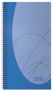 Taschenkalender Modus XL Flexi 2018 blau
