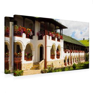 Premium Textil-Leinwand 75 cm x 50 cm quer Kloster Agapia