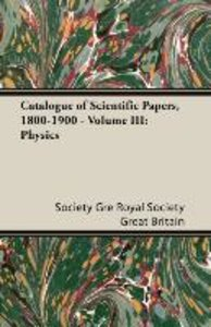 Catalogue of Scientific Papers, 1800-1900 - Volume III