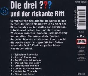Die drei ??? 051 und der riskante Ritt. (drei Fragezeichen). CD