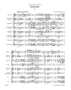 Serenade für Blasinstrumente, Violoncello und Kontrabass op. 44