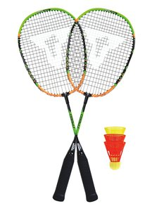 Talbot Torro 490102 - Speed Badminton Set im 3/4 Bag, Black/Oran