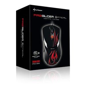 Sharkoon FireGlider Optical - Optische Gaming Maus 3000 dpi