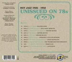 Unissued on 78s Hot Jazz 1926-1932