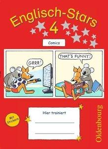Englisch-Stars 4. Schuljahr. Übungsheft Comics mit Lösungsheft