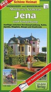 Mittleres Saaletal, Jena und Umgebung 1:35 000