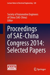 Proceedings of SAE-China Congress 2014: Selected Papers