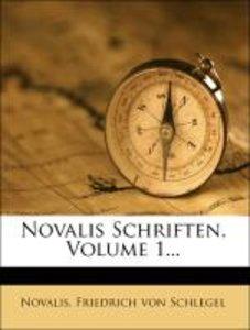 Novalis Schriften, Zweite Auflage, Erster Theil