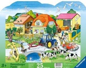 Unser großer Bauernhof. Kontur-Rahmenpuzzle 25 Teile