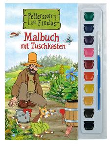 Malbuch mit Tuschkasten Pettersson und Findus