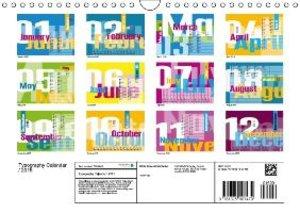 Typography Calendar / 2015 (Wall Calendar 2015 DIN A4 Landscape)