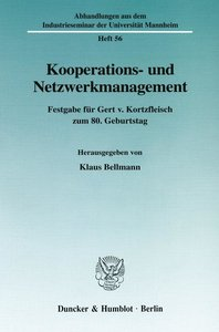 Kooperations- und Netzwerkmanagement.