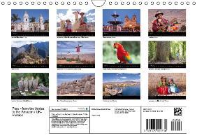 Peru - from the Andes to the Amazon / UK-Version (Wall Calendar - zum Schließen ins Bild klicken
