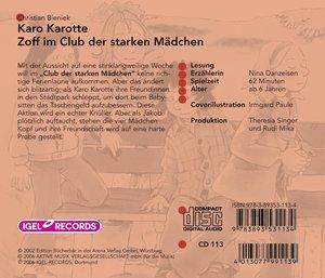 Karo Karotte. Zoff im Club der starken Mädchen. CD