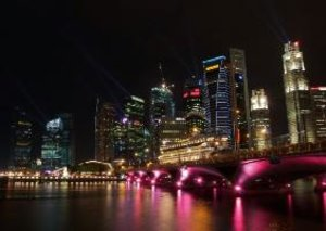 Singapore - In the Colours of the Night (Poster Book DIN A4 Land