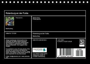 Rotenburg an der Fulda (Tischkalender 2017 DIN A5 quer)