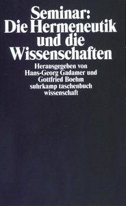 Seminar: Die Hermeneutik und die Wissenschaften