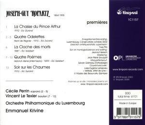La Chasse Du Prince Arthur/Orchesterlieder