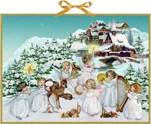Engelchen im Schnee Wandkalender