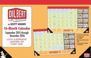 Dilbert 2015-2016 16-Month Desk Pad Calendar