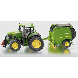 Siku 1665 -John Deere Traktor mit Ballenpresse