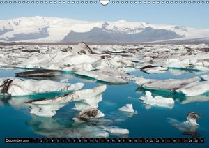 Iceland Highlights / UK-Version (Wall Calendar 2015 DIN A3 Lands