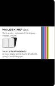 Moleskine Volant Pocket Ruled Black. 2 Notebooks in 2 Shades