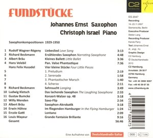 Fundstücke-Saxophonkompositionen 1929-1950