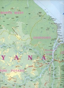 Guyana / Suriname & French Guiana 1 : 850 000