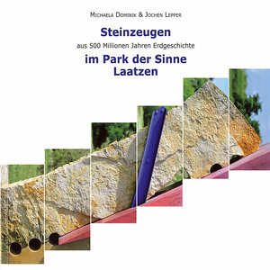 Steinzeugen aus 500 Millionen Jahren Erdgeschichte im Park der S
