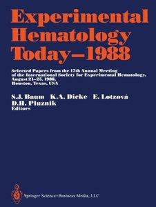 Experimental Hematology Today-1988