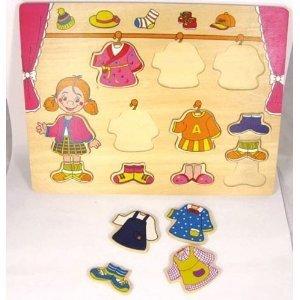 Bino 88110 - Kleiderschrank-Puzzle