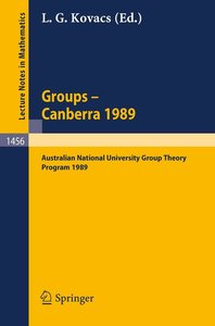 Groups - Canberra 1989